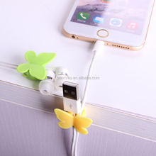 1 dollar china supplier Plastic adhesive tape butterfly cable holder mobile phone accessories dubai