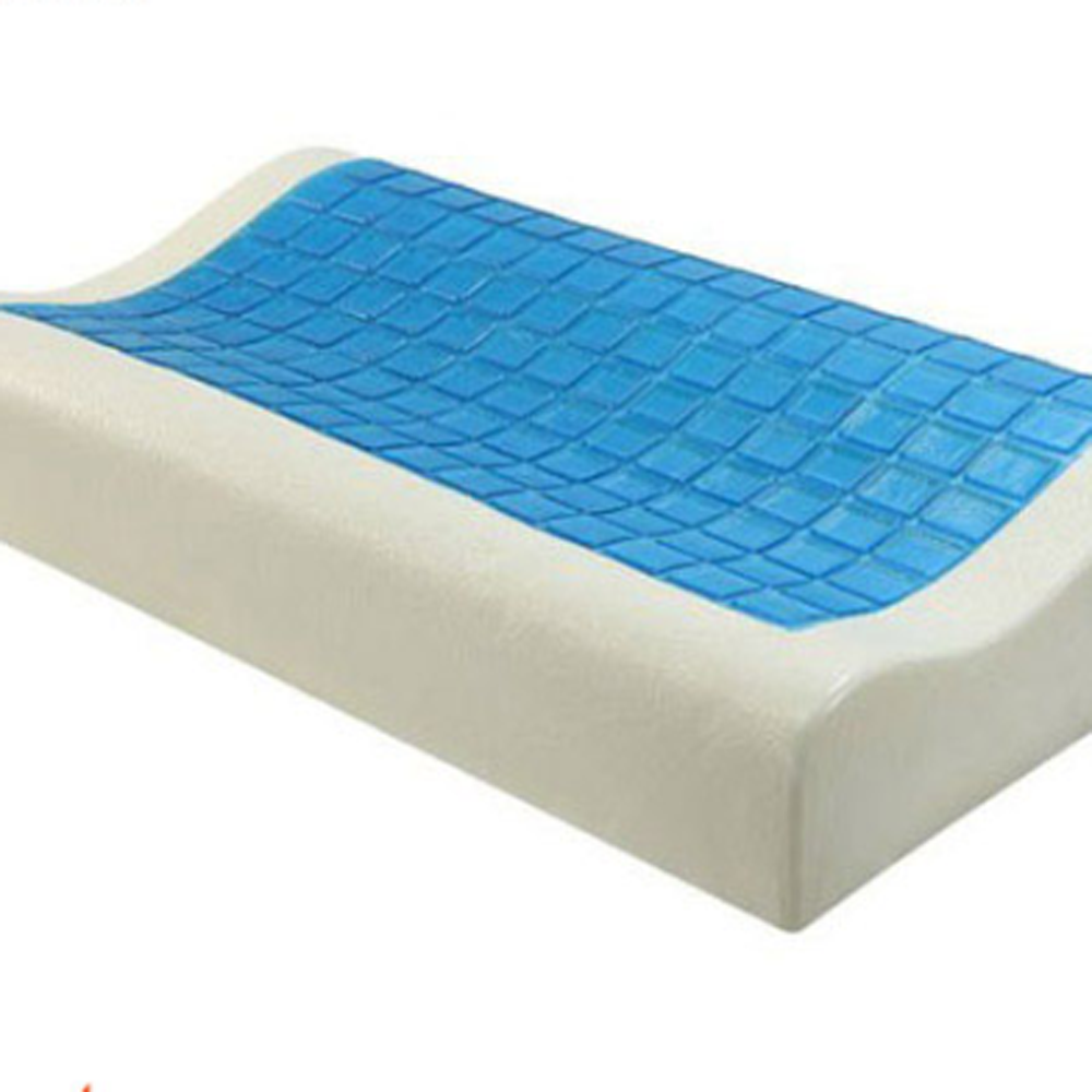 Memory Foam Contour Pillow Gel Pad with polyester inner cover and cotton quilted japara outer cover