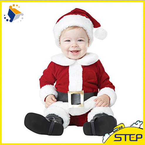 High Quality Lovely Santa Claus Baby Christmas Costume