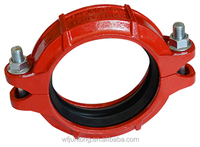 UL FM CE approval ductile iron grooved pipe fittings coupling/flexible coupling