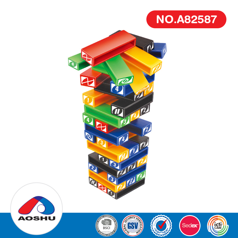 Much funny safe packaging intellect stacked jenga classic game with diy label