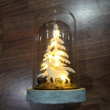 Best selling home wedding decoration lighting miniature wood crafts