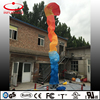 Custom rainbow color inflatable sky man, inflatable flame shaped air dancer