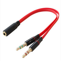 1 to 2 Audio Y Splitter Cable 3.5mm Male to Female Audio Cable for Earphone Headphone