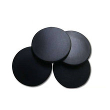 Black round pps uhf rfid laundry tag with 960mhz chip