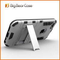 Hybrid tpu pc kickstand phone case for iphone 5c cover