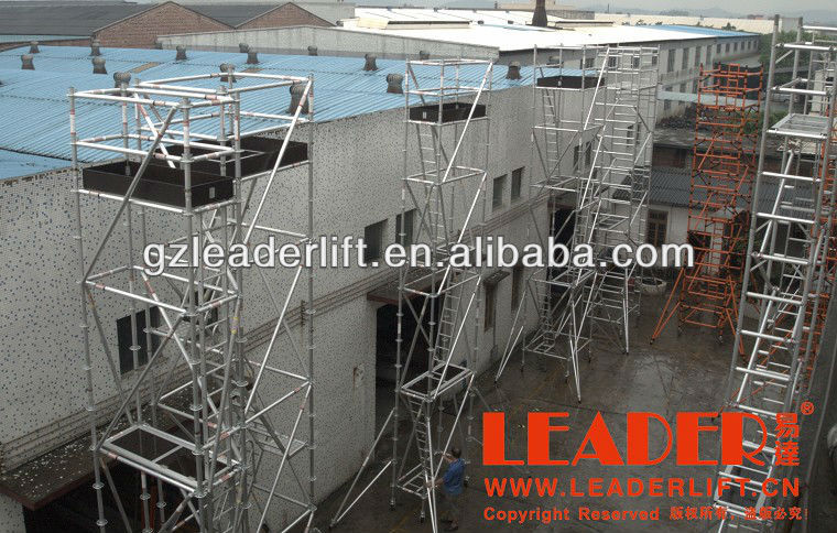 EN12811 Mobile Aluminum Scaffolding for sale for rental