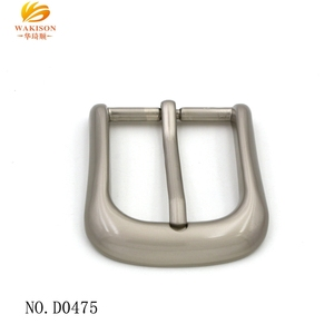 Classic nickel free metal strap single prong belt buckle