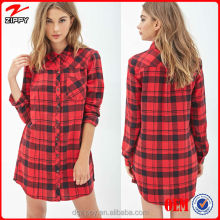 indian clothing wholesale ladies new fashion dress Tartan Plaid Flannel ladies dress