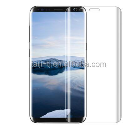 For Galaxy S8 Plus Glass Screen Protector, Full Screen [Case Friendly] 3D Curved Tempered Glass Screen Protector
