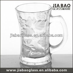 High quality 6oz arabic /turkish style drinking glass engraved glass tea cup with handle