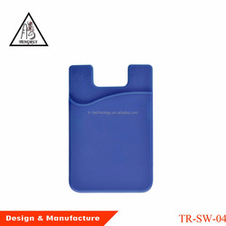 Audit 3m sticker silicone smart wallet,silicone card holder ,personalized cell phone mobile 3m sticky smart pocket