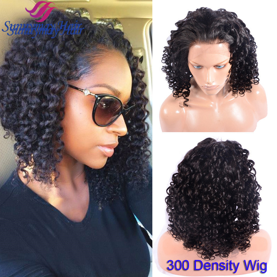 Peruvian Human Hair Overnight Delievery Lace Wigs 300 Density Short Spiral Curly Lace Frontal Wigs