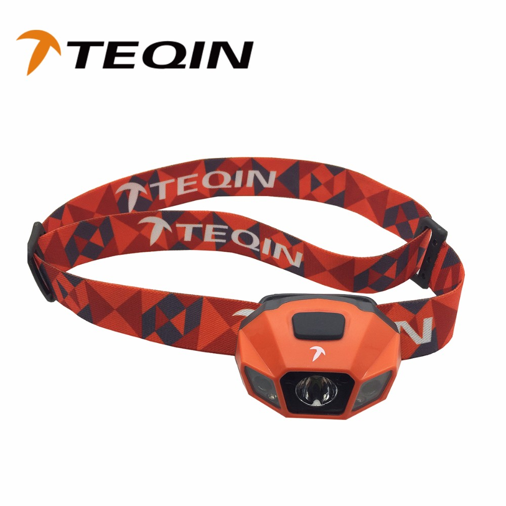 2016 TEQIN 120LM ABS Plastic+Glass Waterproof of IPX6 and Max Distances 80m USB Rechargeable Led Headlamps