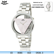 Fashion design triangle skeleton watch personalized travel custom-made watch case