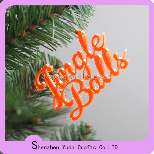 Multi-color lucite christmas decorations laser cutting acrylic ornament in all shapes you want