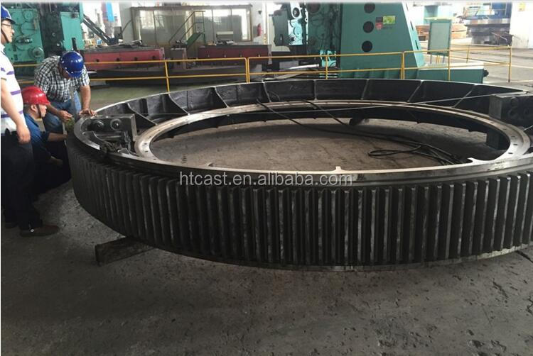 8m Large diameter casting steel ring gear for rotary kiln