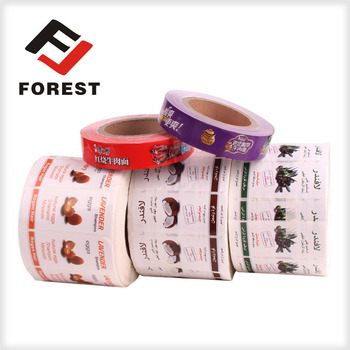 Newly Adhesive Logo Food Label Sticker,Custom Printing Sticker With Available Material