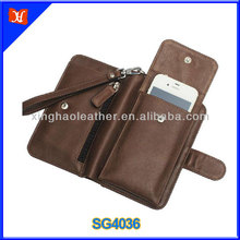 Multi-functional wallet card-slot leather cell mobile phone case