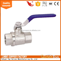 LB-GutenTop Two Piece Full Port Lead Free Brass Ball Valve