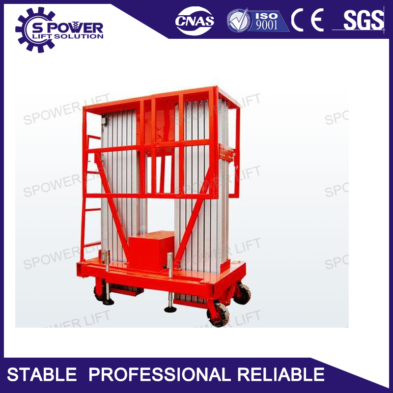 flexible aluminum alloy manual hydraulic platform trolley