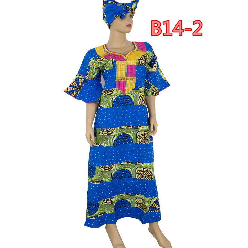Factory wholesale price Embroidery African bazin clothes with stones ,high quality african rich bazin dress for womlen
