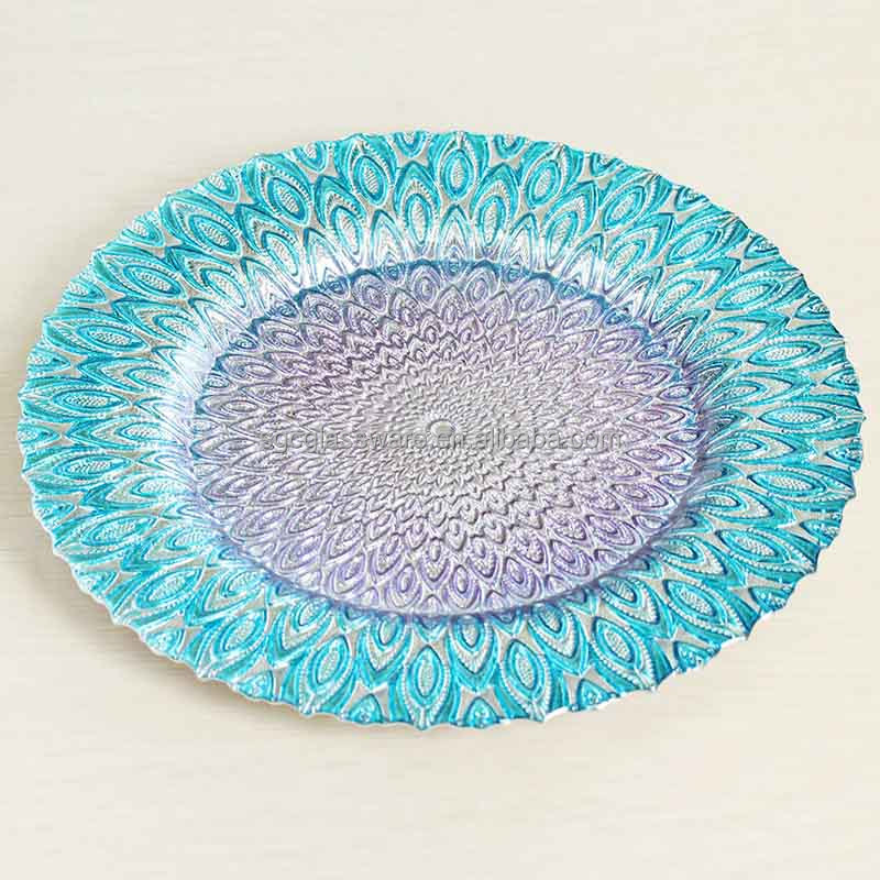 colored glass plates