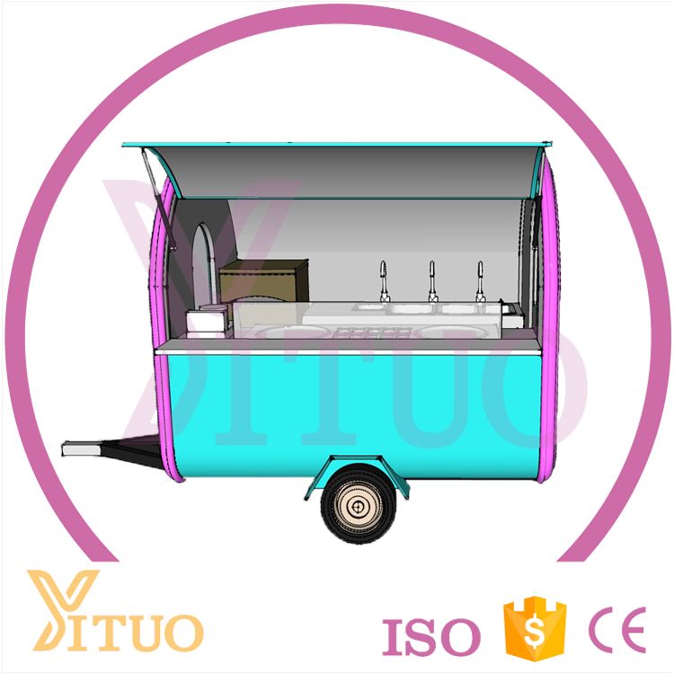 2016 hot sales best quality kitchen concession mobile food cart, ice cream cart