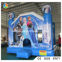 2016 Chrismas Frozen Carriage Inflatable Castle With slide