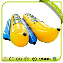 Hot Selling NEVERLAND TOYS Funny Cheap Inflatable Boat Crazy Double Row Banana Boat Inflatable Banana Boat For Sale