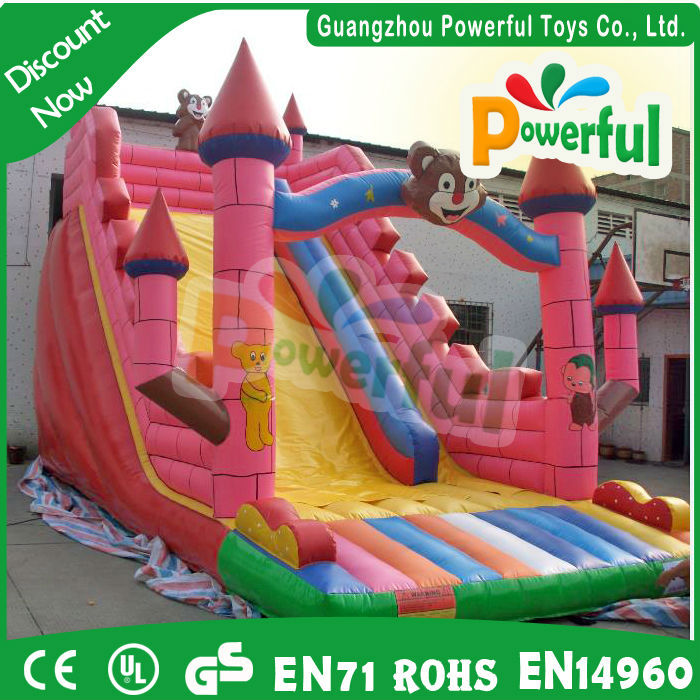 Big sale inflatable water slide can be customized plastic play house with slide