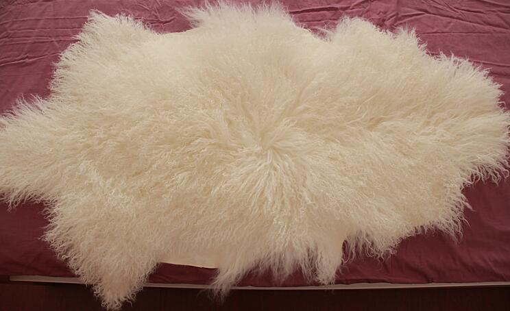 Mongolian Sheep Fur / Tibet Lamb Fur Pelt / Real Lamb Fur Skin
