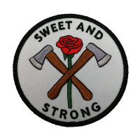 Sweet and strong Iron On Embroidery Textile Patch Custom patch embroidered