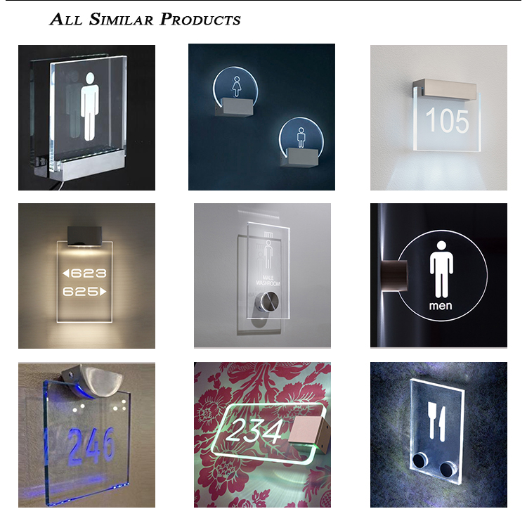 Factory 2017 new product top sale acrylic led sign boards