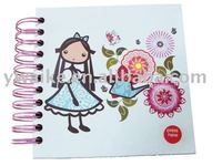high quality printed paper board spiral note book