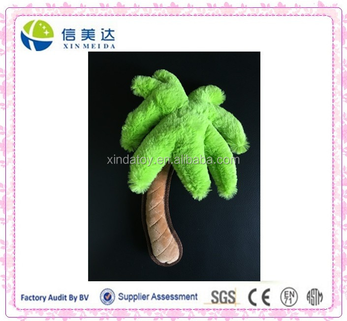 Good Quality Plush Coconut Tree Stuffed Pet Toy with BB Squeaker
