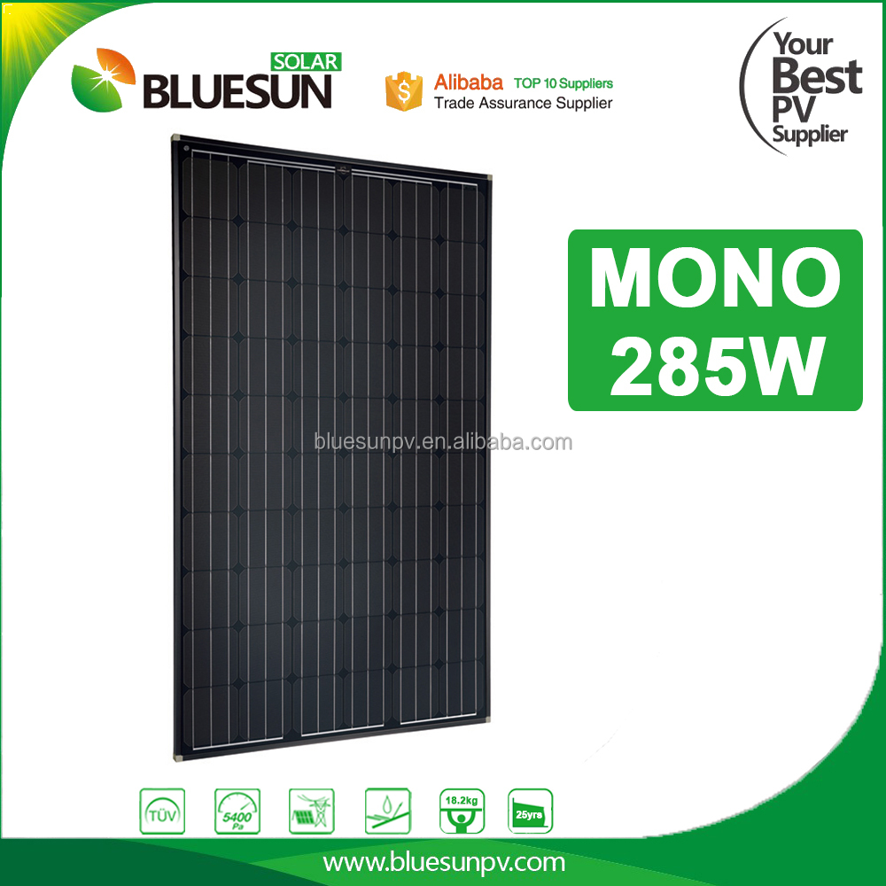 China best quality all black mono solar panel 250w 260watt for home use