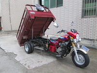 Five Wheel Cargo Motorcycle with Double Rear Wheels Strong Chassis and Steel Plate