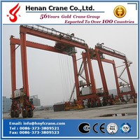 Gantry type rubber tyre container crane