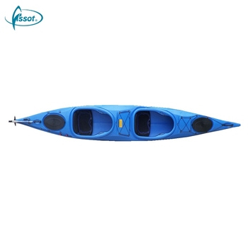Multifunctional tandem ocean PE kayak for sale, best sit on top kayak for fishing, fishing kayak clearance