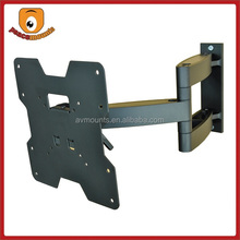 quality full motion corner-cantilever lcd aluminum vesa 200x100 wall mount for 23-37 inches display