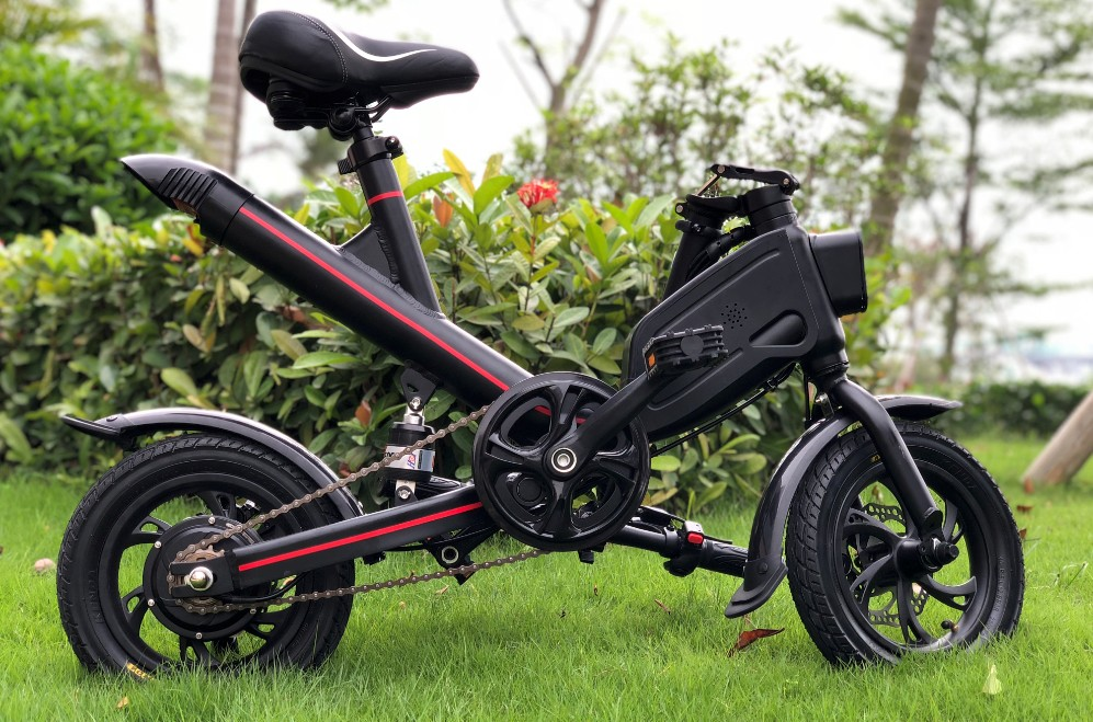 HTOMT 12 inch folding moped scooter with assistance 40-55km