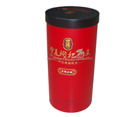 Round tea tin/Round airtight tea tin box/Round tea tin can