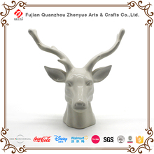 2017 new product resin animal statue decoration figurines 3D wall handing animal head