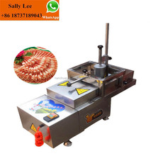 commercial frozen ham slicer cutter/sausage meat roll cutter/meat slicing cutting machine