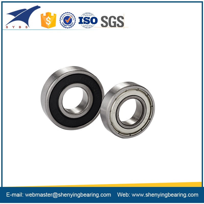 miniature bearing with rubber seal for steel caged