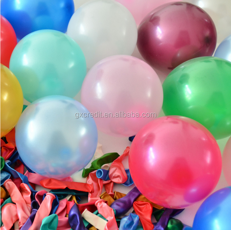 Round shape pearl latex balloon factory directly
