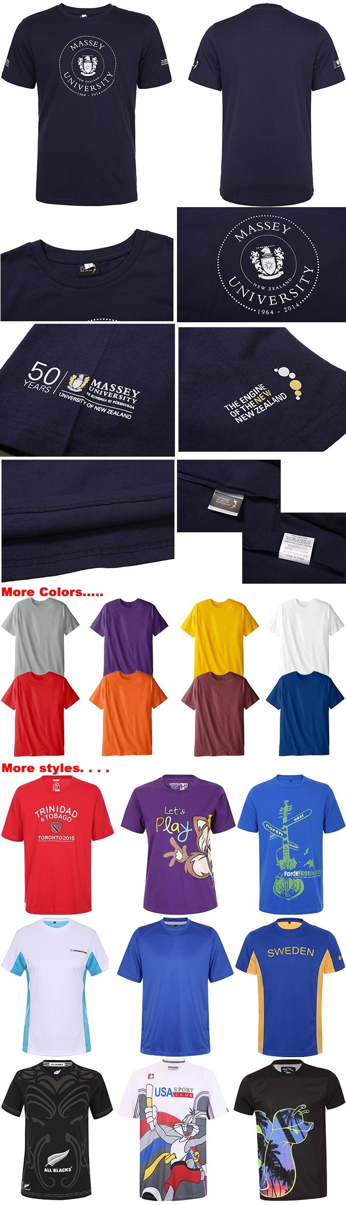 overseas logo custom t shirt printing