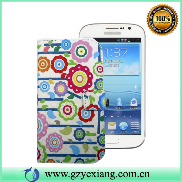 New design leather flip cover for samsung galaxy grand duos i9082 designer case