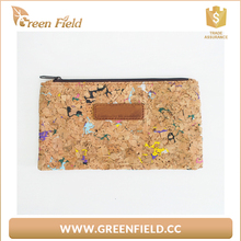 Women cork purse, cork cosmetic pouch